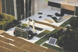 A solar green car