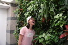 Crystal trying to eat the plants...again
